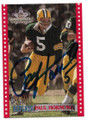 PAUL HORNUNG GREEN BAY PACKERS AUTOGRAPHED FOOTBALL CARD #12519D