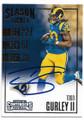 TODD GURLEY LOS ANGELES RAMS AUTOGRAPHED FOOTBALL CARD #12519F