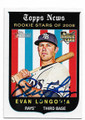 EVAN LONGORIA TAMPA BAY RAYS AUTOGRAPHED ROOKIE BASEBALL CARD #12519i