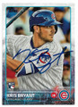 KRIS BRYANT CHICAGO CUBS AUTOGRAPHED ROOKIE BASEBALL CARD #12519K