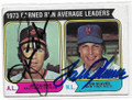 JIM PALMER & TOM SEAVER BALTIMORE ORIOLES & NEW YORK METS DOUBLE AUTOGRAPHED VINTAGE BASEBALL CARD #12619C