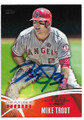 MIKE TROUT LOS ANGELES ANGELS OF ANAHEIM AUTOGRAPHED BASEBALL CARD  #12619K