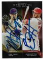 MATT HARVEY & BRYCE HARPER NEW YORK METS & WASHINGTON NATIONALS DOUBLE AUTOGRAPHED BASEBALL CARD #12719B