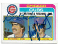 BILL BUCKNER & RANDY MARTZ CHICAG CUBS DOUBLE AUTOGRAPHED VINTAGE BASEBALL CARD #12719D
