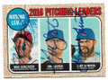 MAX SCHERZER, JON LESTER & JAKE ARRIETA WASHINGTON NATIONALS & CHICAGO CUBS TRIPLE AUTOGRAPHED BASEBALL CARD #12719F