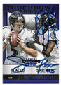 JOE FLACCO & STEVE SMITH SR BALTIMORE RAVENS DOUBLE AUTOGRAPHED FOOTBALL CARD #12719K