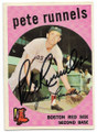 PETE RUNNELS BOSTON RED SOX AUTOGRAPHED VINTAGE BASEBALL CARD #12819B