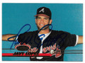 JAVY LOPEZ ATLANTA BRAVES AUTOPGRAPHED ROOKIE BASEBALL CARD #12919A