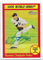 AJ BURNETT NEW YORK YANKEES AUTOGRAPHED BASEBALL CARD #12919E