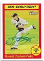 AJ BURNETT NEW YORK YANKEES AUTOGRAPHED BASEBALL CARD #12919E