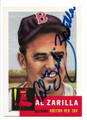 AL ZARILLA BOSTON RED SOX AUTOGRAPHED BASEBALL CARD #12919K
