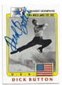 DICK BUTTON USA OLYMPIC SKATING AUTOGRAPHED VINTAGE OLYMPICS CARD #13019H