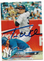 TYLER WADE NEW YORK YANKEES AUTOGRAPHED ROOKIE BASEBALL CARD #13119C