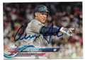 AARON JUDGE NEW YORK YANKEES AUTOGRAPHED BASEBALL CARD #13119G