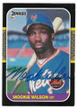 MOOKIE WILSON NEW YORK METS AUTOGRAPHED VINTAGE BASEBALL CARD #20119H