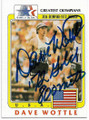 DAVE WOTTLE USA TRACK OLYMPIC GOLD MEDALIST AUTOGRAPHED OLYMPICS CARD #20219C