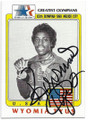 WYOMIA TYUS OLYMPIC TRACK & FIELD AUTOGRAPHED OLYMPICS CARD #20219E