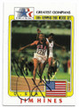 JIM HINES USA OLYMPIC TRACK & FIELD 2 TIME GOLD MEDALIST AUTOGRAPHED OLYMPICS CARD #20219i