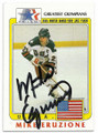 MIKE ERUZIONS USA OLYMPIC HOCKEY AUTOGRAPHED OLYMPICS CARD #20419B