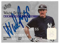 WADE BOGGS NEW YORK YANKEES AUTOGRAPHED BASEBALL CARD #20619i