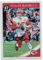 PATRICK MAHOMES II KANSAS CITY CHIEFS AUTOGRAPHED FOOTBALL CARD #20619L