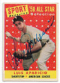 LUIS APARICIO CHICAGO WHITE SOX AUTOGRAPHED VINTAGE BASEBALL CARD #20719F