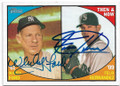 WHITEY FORD & FELIX HERNANDEZ NEW YORK YANKEES & SEATTLE MARINERA DOUBLE AUTOGRAPHED BASEBALL CARD #20719K