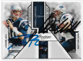 TOM BRADY & WES WELKER NEW ENGLAND PATRIOTS DOUBLE AUTOGRAPHED FOOTBALL CARD #20719L