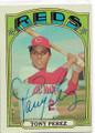 TONY PEREZ CINCINNATI REDS AUTOGRAPHED VINTAGE BASEBALL CARD #20819A