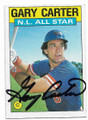 GARY CARTER NEW YORK METS AUTOGRAPHED VINTAGE BASEBALL CARD #20819B