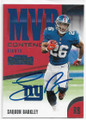 SAQUON BARKLEY NEW YORK GIANTS AUTOGRAPHED ROOKIE FOOTBALL CARD #22419B