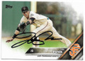 JOE PANIK SAN FRANCISCO GIANTS AUTOGRAPHED BASEBALL CARD #22419F