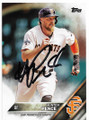 HUNTER PENCE SAN FRANCISCO GIANTS AUTOGRAPHED BASEBALL CARD #22419H