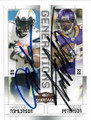 LaDAINIAN TOMLINSON & ADRIAN PETERSON SAN DIEGO CHARGERS & MINNESOTA VIKINGS DOUBLE AUTOGRAPHED FOOTBALL CARD #30319B