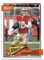 JIMMY GAROPPOLO SAN FRANCISCO 49ers AUTOGRAPHED FOOTBALL CARD #30419A