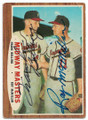 FRANK BOLLING & ROY McMILLAN MILWAUKEE BRAVES DOUBLE AUTOGRAPHED VINTAGE BASEBALL CARD #30419D