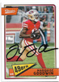 MARQUISE GOODWIN SAN FRANCISCO 49ers AUTOGRAPHED FOOTBALL CARD #30419G