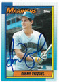 OMAR VIZQUEL SEATTLE MARINERS AUTOGRAPHED ROOKIE BASEBALL CARD #30519C