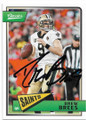 DREW BREES NEW ORLEANS SAINTS AUTOGRAPHED FOOTBALL CARD #30519H