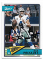 DAK PRESCOTT DALLAS COWBOYS AUTOGRAPHED FOOTBALL CARD #30619A