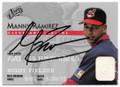 MANNY RAMIREZ CLEVELAND INDIANS AUTOGRAPHED BASEBALL CARD #30619B