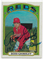 ROSS GRIMSLEY CINCINNATI REDS AUTOGRAPHED VINTAGE ROOKIE BASEBALL CARD #30719A
