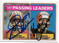JOE THEISMANN & KEN ANDERSON WASHINGTON REDSKINS & CINCINNATI BENGALS DOUBLE AUTOGRAPHED VINTAGE FOOTBALL CARD #30719E