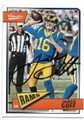 JARED GOFF LOS ANGELES RAMS AUTOGRAPHED FOOTBALL CARD #30819B