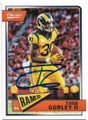 TODD GURLEY II LOS ANGELES RAMS AUTOGRAPHED FOOTBALL CARD #31419A