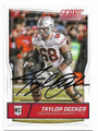TAYLOR DECKER OHIO STATE UNIVERSITY AUTOGRAPHED ROOKIE FOOTBALL CARD #31519D