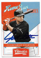 GIANCARLO STANTON MIAMI MARLINS AUTOGRAPHED BASEBALL CARD #31519E