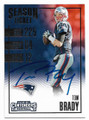 TOM BRADY NEW ENGLAND PATRIOTS AUTOGRAPHED FOOTBALL CARD #31619E