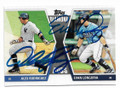 ALEX RODRIGUEZ & EVAN LONGORIA NEW YORK YANKEES & TAMPA BAY RAYS DOUBLE AUTOGRAPHED BASEBALL CARD #31919A
