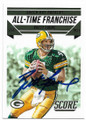 BRETT FAVRE GREEN BAY PACKERS AUTOGRAPHED FOOTBALL CARD #31919B